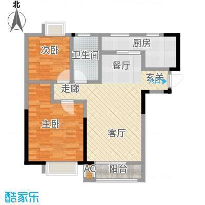 朗钜帕蒂奥90.00㎡20#D-2室2厅1卫户型