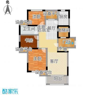 恒熙湖庭112.00㎡B户型3室2厅1卫