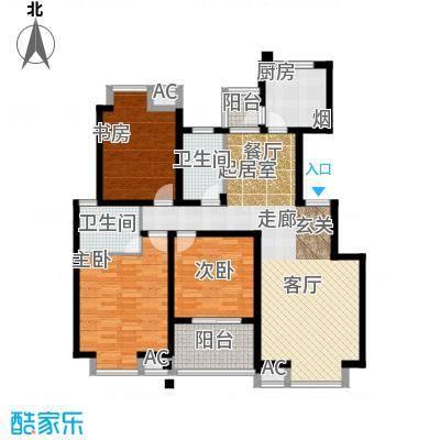 凯旋城124.00㎡凯旋城户型图凯旋城六期3室2厅2卫124.00㎡(5/21张)户型3室2厅2卫