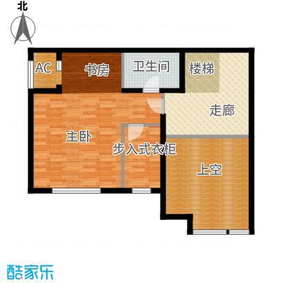 保利金香槟94.19㎡L4户型三室二厅二卫(二层)户型3室2厅2卫