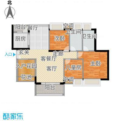 中熙弥珍道尊雅3+4栋028栋01户型3室1厅2卫1厨
