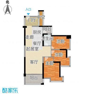 锦绣御园113.00㎡三期壹堂7栋B座C-D型户型3室2厅1卫