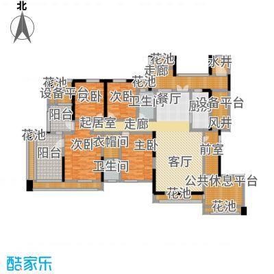 中冶南方韵湖首府202.00㎡A户型四室两厅两卫户型4室2厅2卫