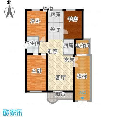 绝对城市125.55㎡绝对城市户型图三室两厅两卫(1/5张)户型3室2厅2卫