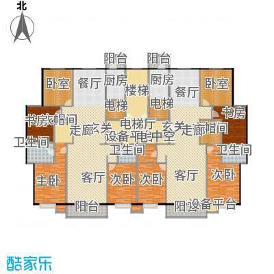 北环盛世190.35㎡1#楼2、3单元户型4室2厅2卫