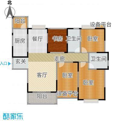 惠泽云锦城133.00㎡二期C户型3室2厅2卫