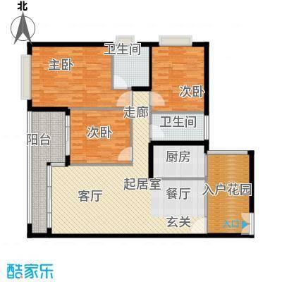 莲湖四季豪园户型3室2卫1厨