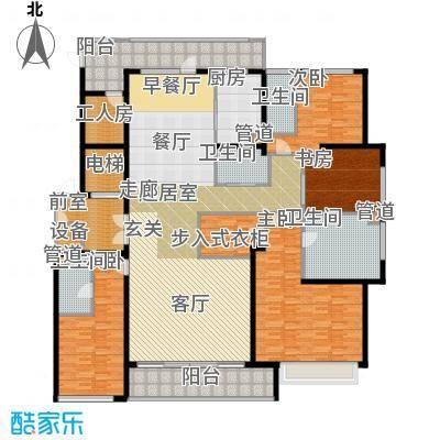 九龙仓雅戈尔铂翠湾269平米精装户型5室3厅4卫