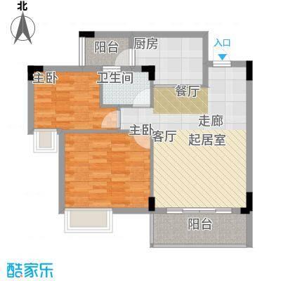 友田碧云轩78.00㎡7~11栋2~10层02户型2室2厅1卫
