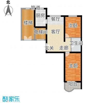 绝对城市93.40㎡绝对城市户型图两室两厅一卫(3/5张)户型2室2厅1卫