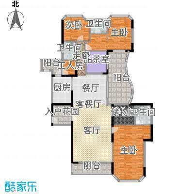 汇景银座213.81㎡户型3室1厅3卫1厨