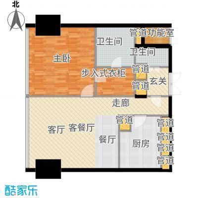 东方之门113.00㎡2008户型1室1厅2卫