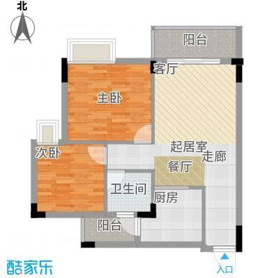 友田碧云轩73.00㎡1~5栋8层03户型2室2厅1卫