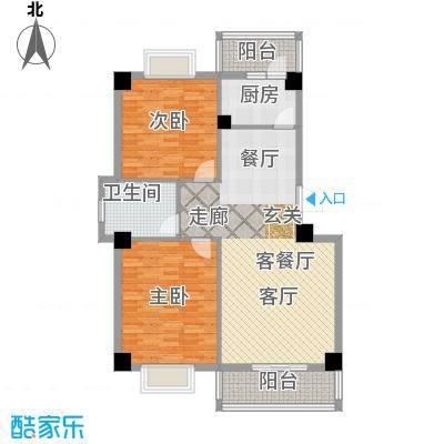 攀华未来城华未来城一期9和11号楼B标准层户型2室1厅1卫1厨
