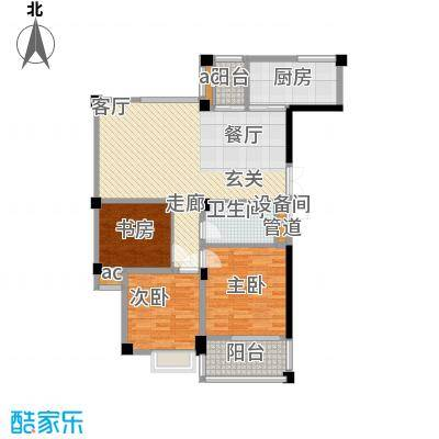 水木清华水木清华户型图小高层B2户型(10/10张)户型10室