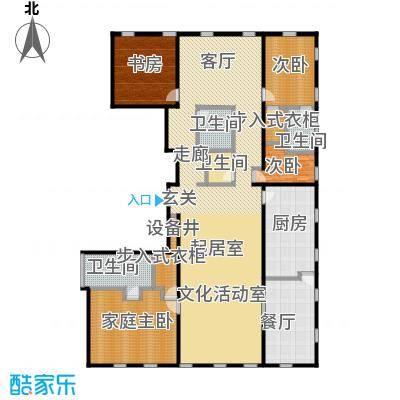 万国城MOMA301.00㎡A户型 五室两厅三卫户型5室2厅3卫