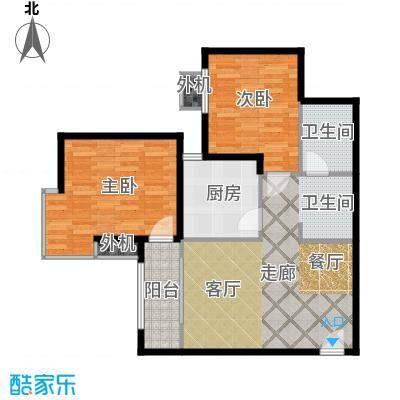 东泰城市之光79.92㎡东泰城市之光户型图A4户型(3/15张)户型2室2厅1卫