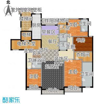 亿锋8号299.00㎡4室3厅4卫+工人套房户型