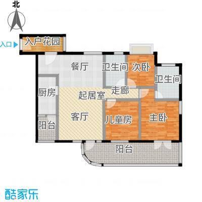 合生帝景国际120.24㎡A/C栋03单元B/D栋06单元户型3室2卫1厨