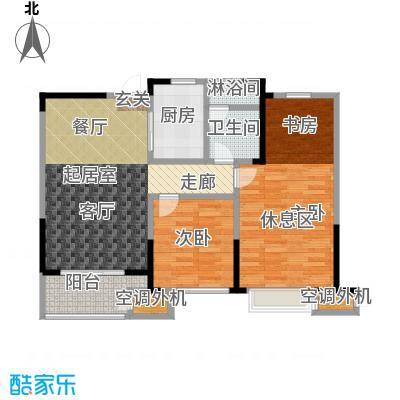 九龙仓玺园95.00㎡九龙仓玺园95.00㎡2室2厅1卫户型2室2厅1卫