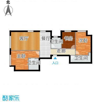 星海大观138.00㎡3室2厅2卫面积约138平米户型