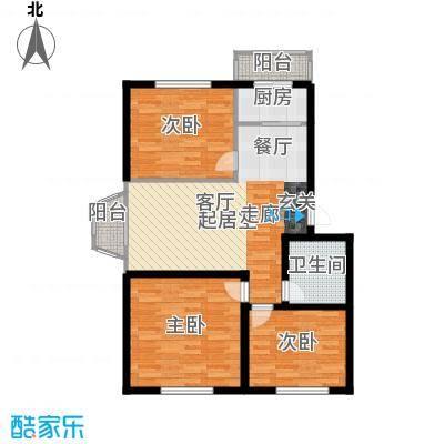 金华学府85.26㎡31#户型3室2厅1卫