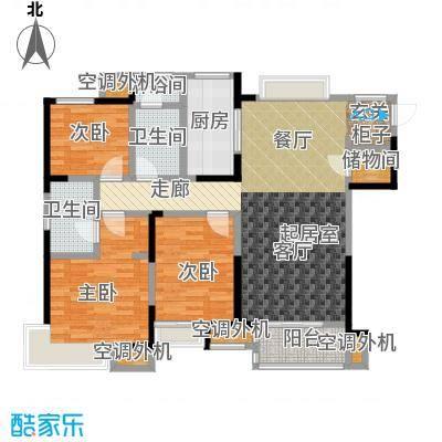 九龙仓玺园120.00㎡11号楼户型3室2厅2卫