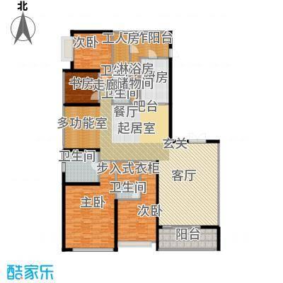 天銮264.30㎡A2和A6栋02单元(2-13 16-31 34-47层)户型4室2厅4卫