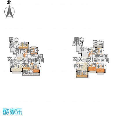 圣莫丽斯三期210.00㎡W3 四房两厅两卫 200-户型