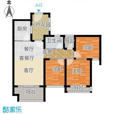 光明大第80.00㎡3栋B型3房2厅1卫户型3室2厅1卫