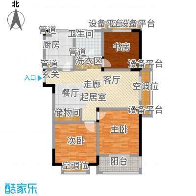 和平国际124.00㎡和平国际户型图F户型馆誉(2/2张)户型3室2厅1卫