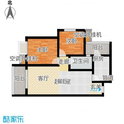 淮远古镇83.19㎡5、6号楼2/3/8/9号房 两室两厅一卫户型2室2厅1卫