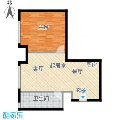 太伟方恒广场公寓D座AQQ户型1室1卫