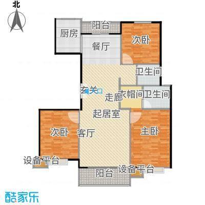 北环盛世148.10㎡2#楼1单元东户户型3室2厅2卫