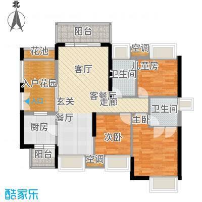 中熙弥珍道舒享3+1栋029栋03户型3室1厅2卫1厨