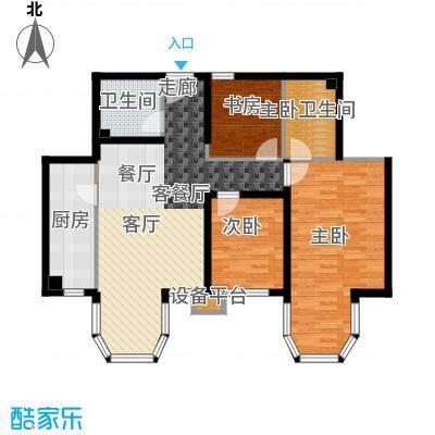 合生君景湾114.00㎡三室两厅两卫户型3室2厅2卫