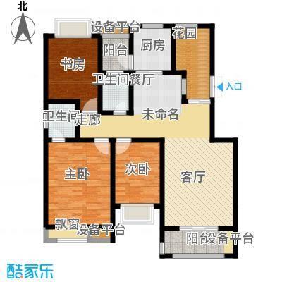 帕堤欧公馆120.00㎡E1 3室2厅2卫+入户花园户型3室2厅2卫