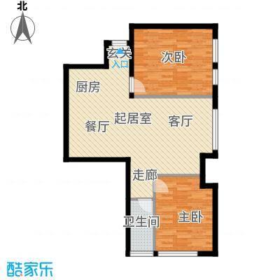 太伟方恒广场QQ户型2室1卫
