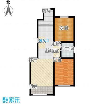 蒙鑫国际名城104.00㎡两室两厅户型