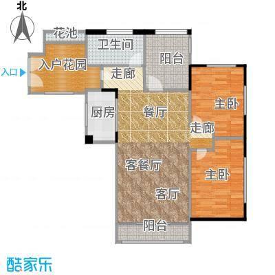 翠屏领东天河D01南向户型2室1厅1卫1厨