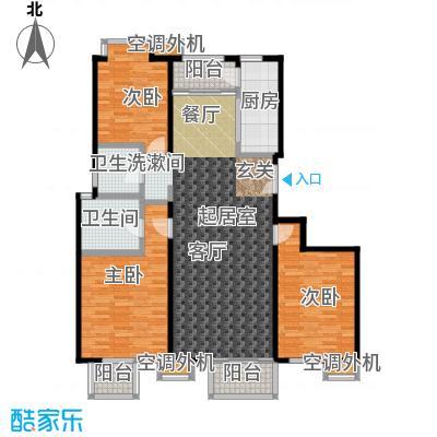 玺萌公馆A02户型3室2卫1厨