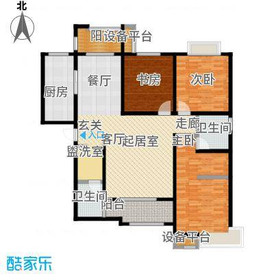 西安公馆3.4号楼146平米E户型