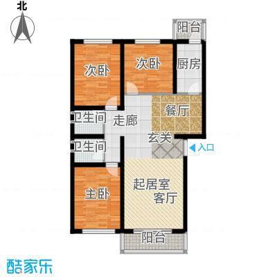 上林湾118.00㎡A户型3室2厅2卫