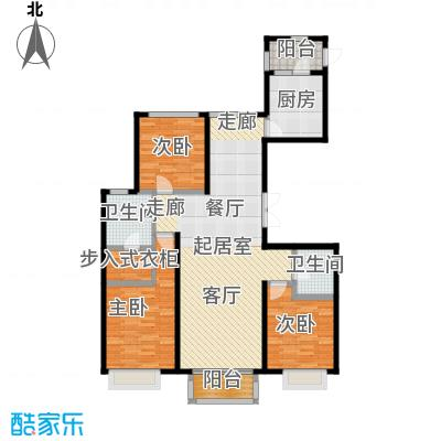 北京城建・世华泊郡118.00㎡3#C2户型3室2卫1厨