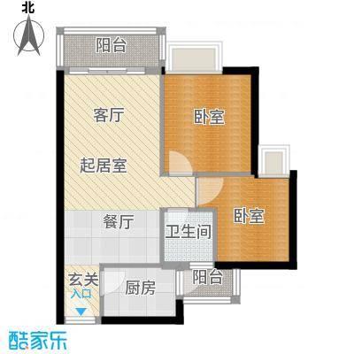 中惠丽阳时代二期62.55㎡户型1卫1厨