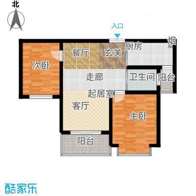 凯旋城90.00㎡凯旋城户型图90平米(4/4张)户型10室