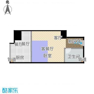 西荷丰润国际公寓55.45㎡西荷丰润国际公寓户型图B2户型一室一厅一厨一卫(15/19张)户型1室1厅1卫
