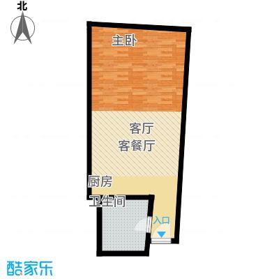 深圳湾59.00㎡F户型图一室一厅一卫户型1室1厅1卫