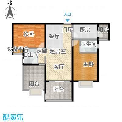 合景领峰99.00㎡A户型2室2厅2卫
