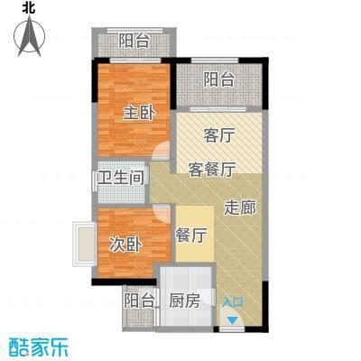 中惠香樟绿洲81.34㎡户型2室1厅1卫1厨